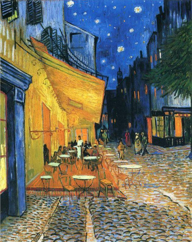 cafe-terrace-at-night- vincent van gogh painting